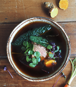 Bone Broth with Beef & Greens